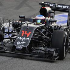 Fernando Alonso ha hecho test aerodinámicos a primera hora de la mañana