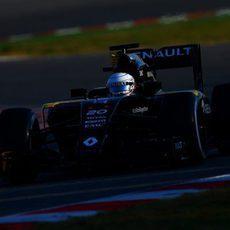 Una fuga hidraúlica limitaba el tiempo de Renault