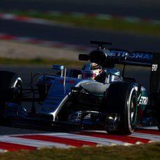 Hamilton y Rosberg se han dividido la etapa de trabajo