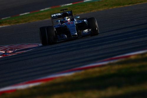 Lewis Hamilton ha rodado con el Mercedes por la tarde