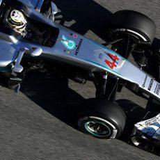 Lewis Hamilton ha hecho tandas largas