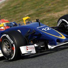 Felipe Nasr se ha subido por primera vez en la pretemporada al Sauber