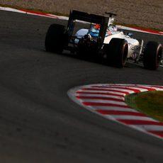 Valtteri Bottas rueda con ultrablandos
