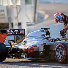 El Haas deja tirado en pista a Grosjean