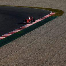 Sebastian Vettel completa más de 100 vueltas