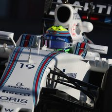 Primer plano de Felipe Massa en el FW38