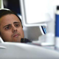 Felipe Massa dentro de su nuevo Williams