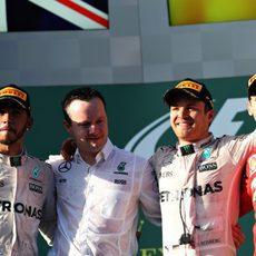 Podio del GP de Australia 2016