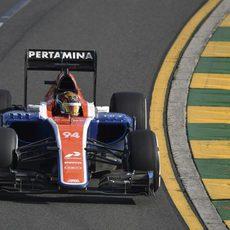 Pascal Wehrlein rueda con el neumático más duro del fin de semana