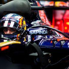 Máxima concentración de Carlos Sainz