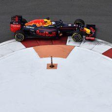 Vista de la cúpula de Red Bull desde arriba