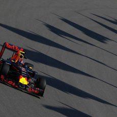 Daniel Ricciardo en simulación de carrera