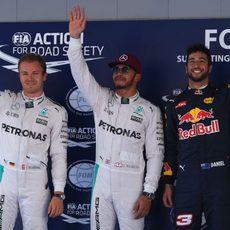 Lewis Hamilton, Nico Rosberg y Daniel Ricciardo triunfan