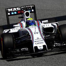 Felipe Massa rueda con neumáticos blandos