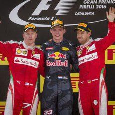 Podio del GP de España 2016