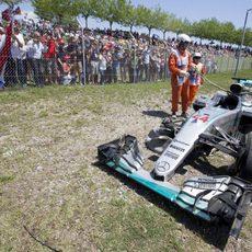 Coche de Lewis Hamilton en Barcelona