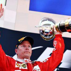 Nuevo podio de Kimi Räikkönen en España
