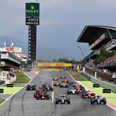Salida del GP de España 2016
