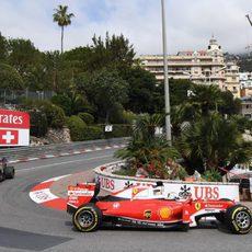 Daniil Kvyat y Sebastian Vettel juntos en vuelta cronometrada