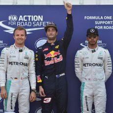 Ricciardo, Rosberg y Hamilton vuelan en Mónaco