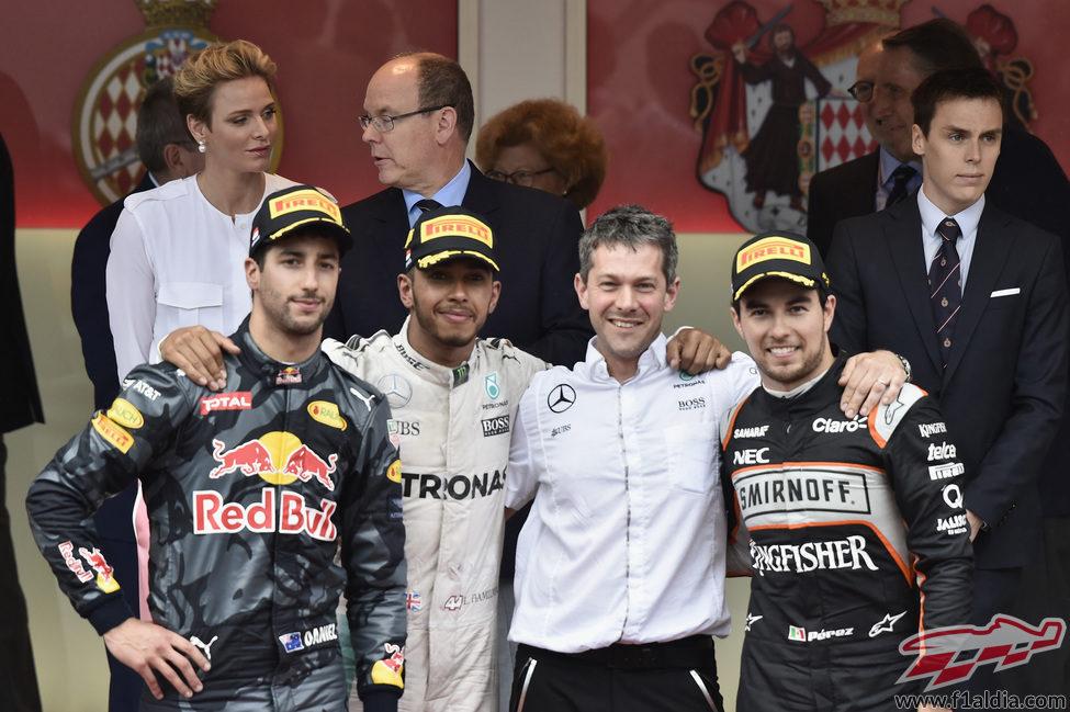 Podio del GP de Mónaco 2016