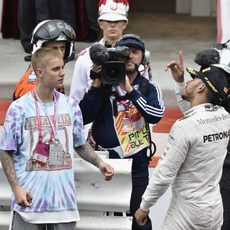 Justin Bieber estuvo en Mónaco para apoyar a Lewis Hamilton