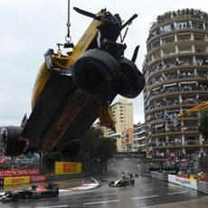 Estado del coche de Jolyon Palmer tras el accidente