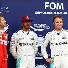 Hamilton, Rosberg y Vettel triunfan en la clasificación