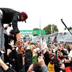 Las masas aclaman a Lewis Hamilton en Canadá