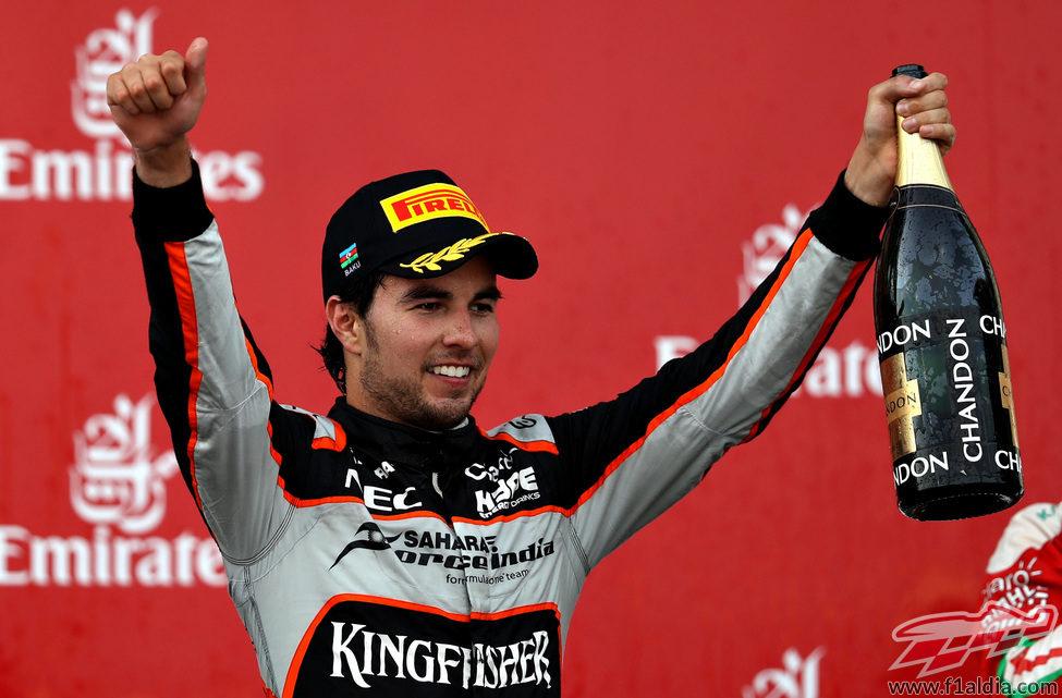 Segundo podio del año para Sergio Pérez