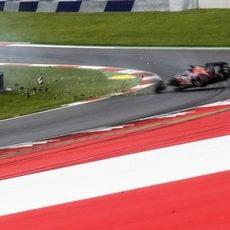 Accidente de Daniil Kvyat durante la clasificación