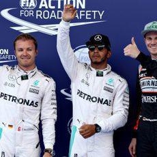 Hamilton, Rosberg y Hülkenberg los más rápidos en Austria