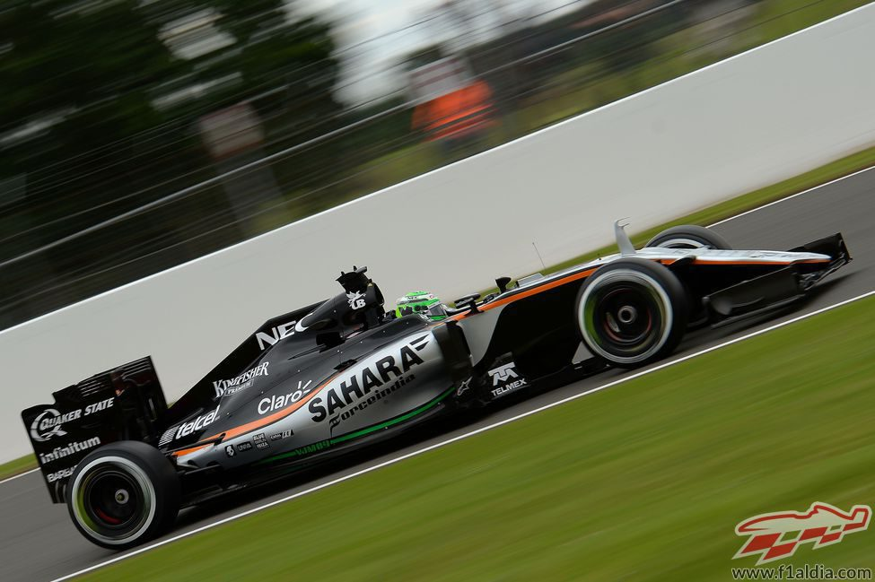Sergio Pérez pone a punto su Force India