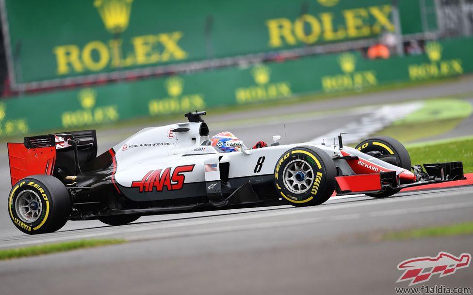 Romain Grosjean prueba el compuesto blando
