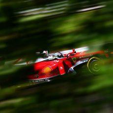 Sebastian Vettel acaba el viernes en tercera posición