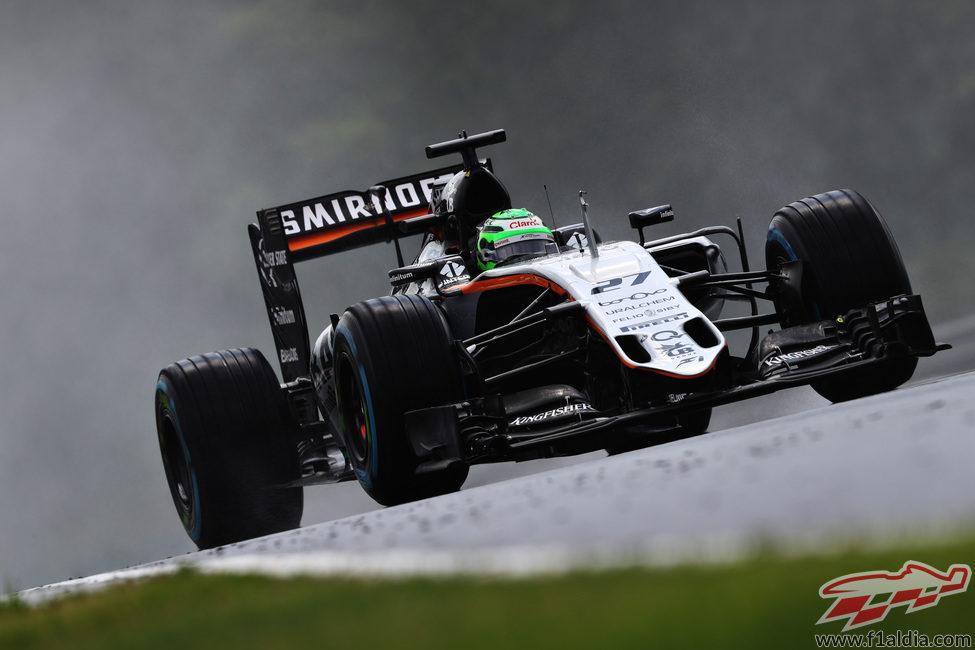 Nico Hülkenberg fue el único de Force India en la Q3