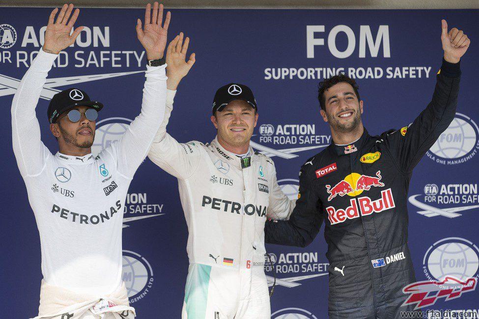 Rosberg, Hamilton y Ricciardo vuelan en el Hungaroring