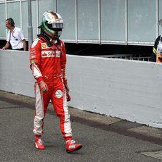 Sebastian Vettel acaba frustrado la clasificación