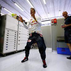 Entrenamientos para Daniel Ricciardo antes de la acción