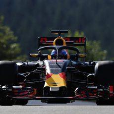 Daniel Ricciardo prueba el nuevo 'halo'