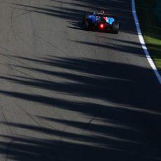 Pascal Wehrlein rueda en el trazado de Spa