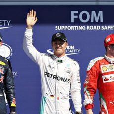 Rosberg, Verstappen y Räikkönen vuelan en Spa