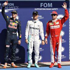 Saludos para los fans de Rosberg, Verstappen y Räikkönen