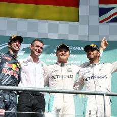 Podio del GP de Bélgica 2016