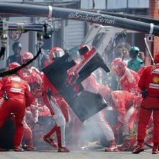 Cambio de alerón para Sebastian Vettel