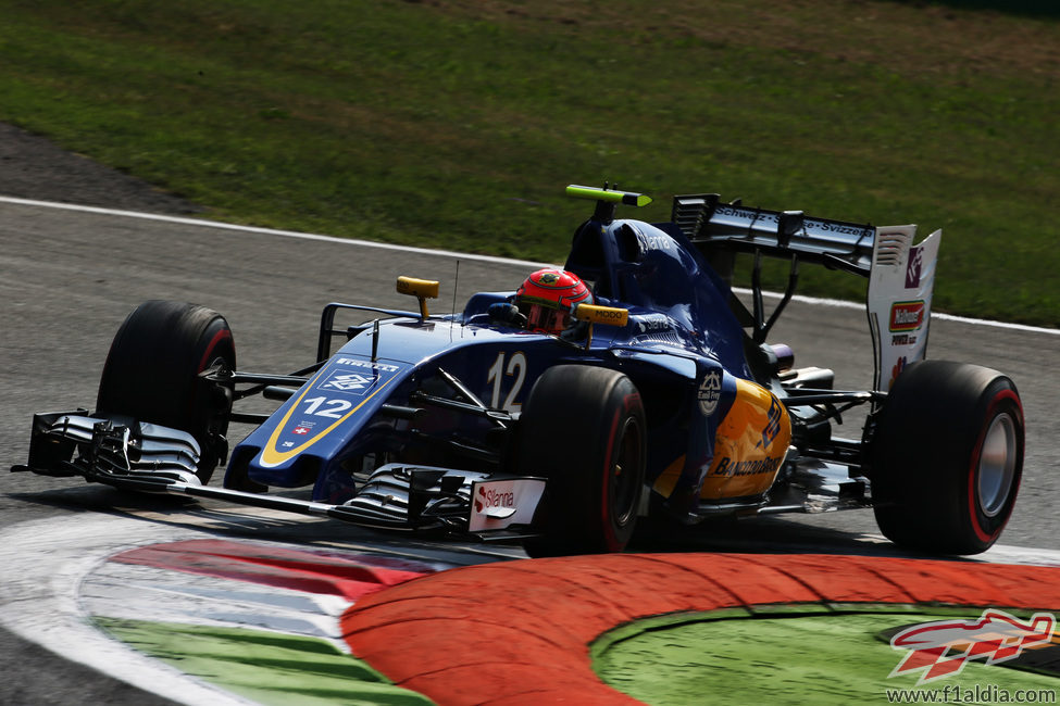 Felipe Nasr exprime su Sauber en Monza