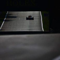 Carlos Sainz sufre el mal rendimiento de su Toro Rosso en Monza
