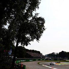 Primera chicane del trazado de Monza