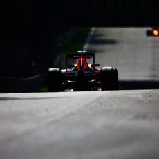 El Red Bull afronta la recta trasera del trazado de Monza