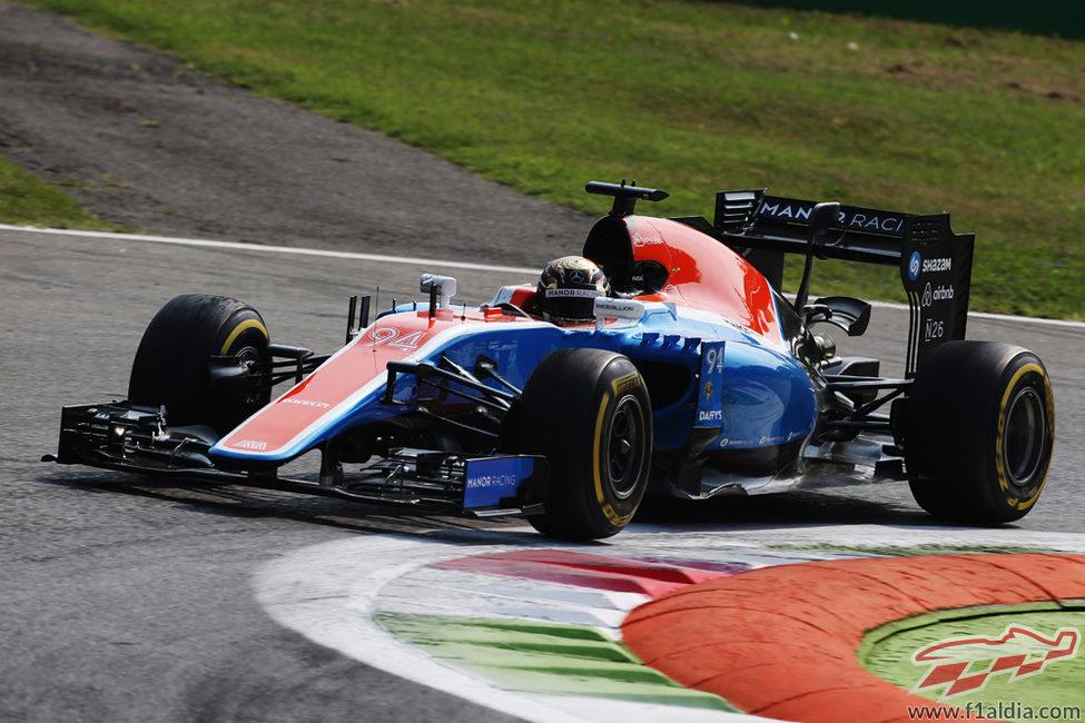 Pascal Wehrlein rueda con el neumático blando